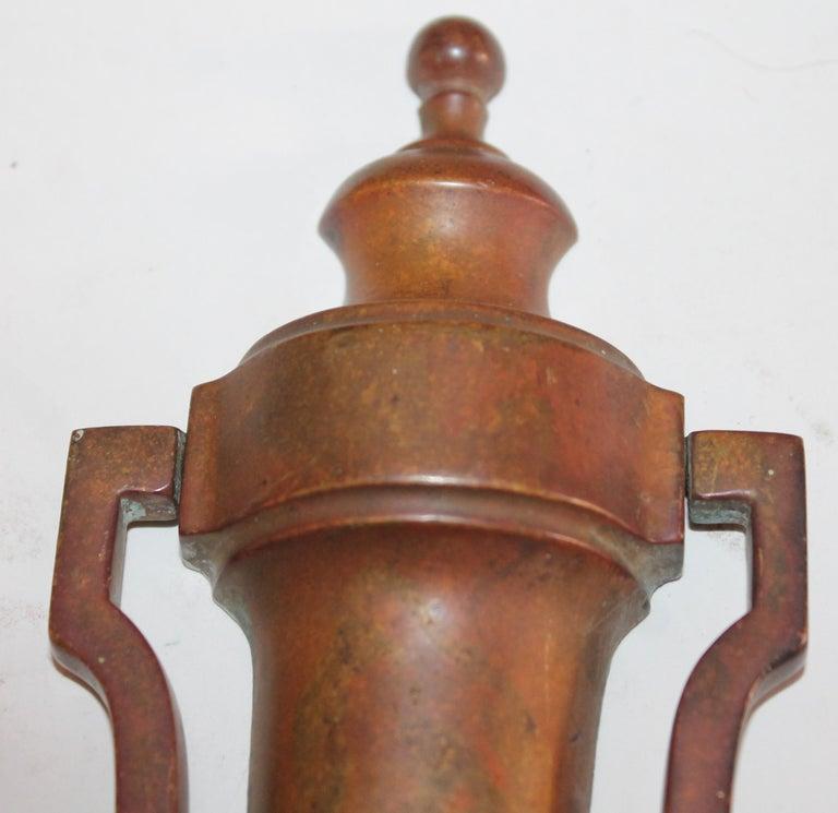 Brass Door Knocker In Excellent Condition For Sale In Los Angeles, CA