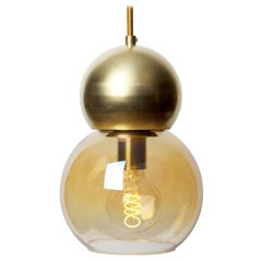 Brass Double Bubble Light Fixture