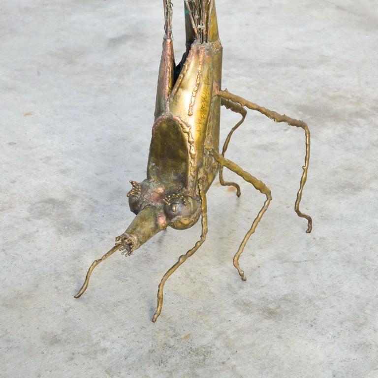 Belgian Brass Dragonfly Sculpture by Daniel Dhaeseleer For Sale