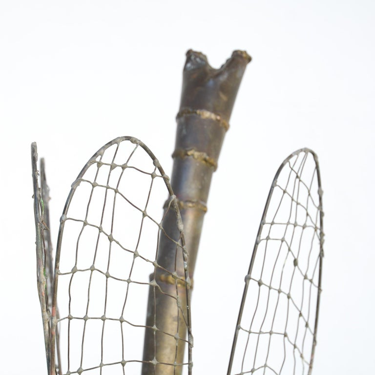 Late 20th Century Brass Dragonfly Sculpture by Daniel Dhaeseleer For Sale