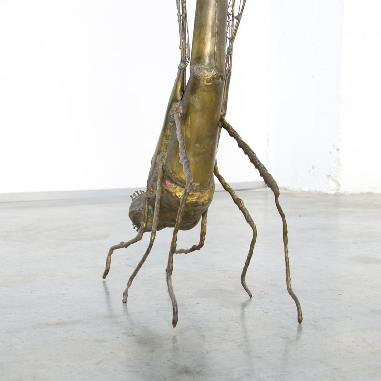 Brass Dragonfly Sculpture by Daniel Dhaeseleer For Sale 2