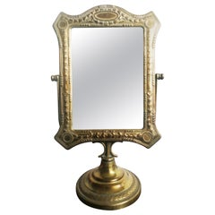 Brass Dressing Table Mirror Antique