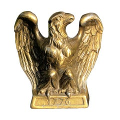 Brass Eagle Book End 1776 circa 1965 Colonial Virginia Hampton VA Signed