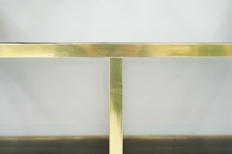 Brass Étagère Shelf or Room Divider with Black Sideboard by Kim Moltzer, 1970s For Sale 1