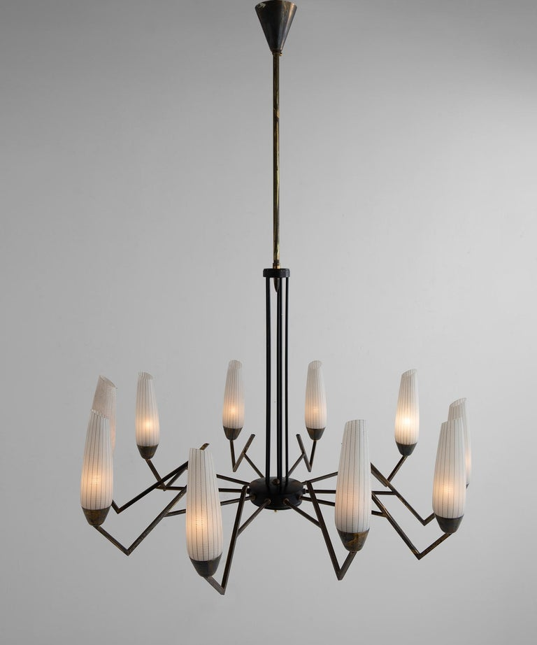 With unique form and wonderful glass shades.