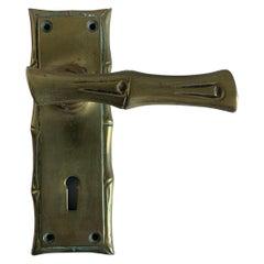 Brass Faux Bamboo Door Handle