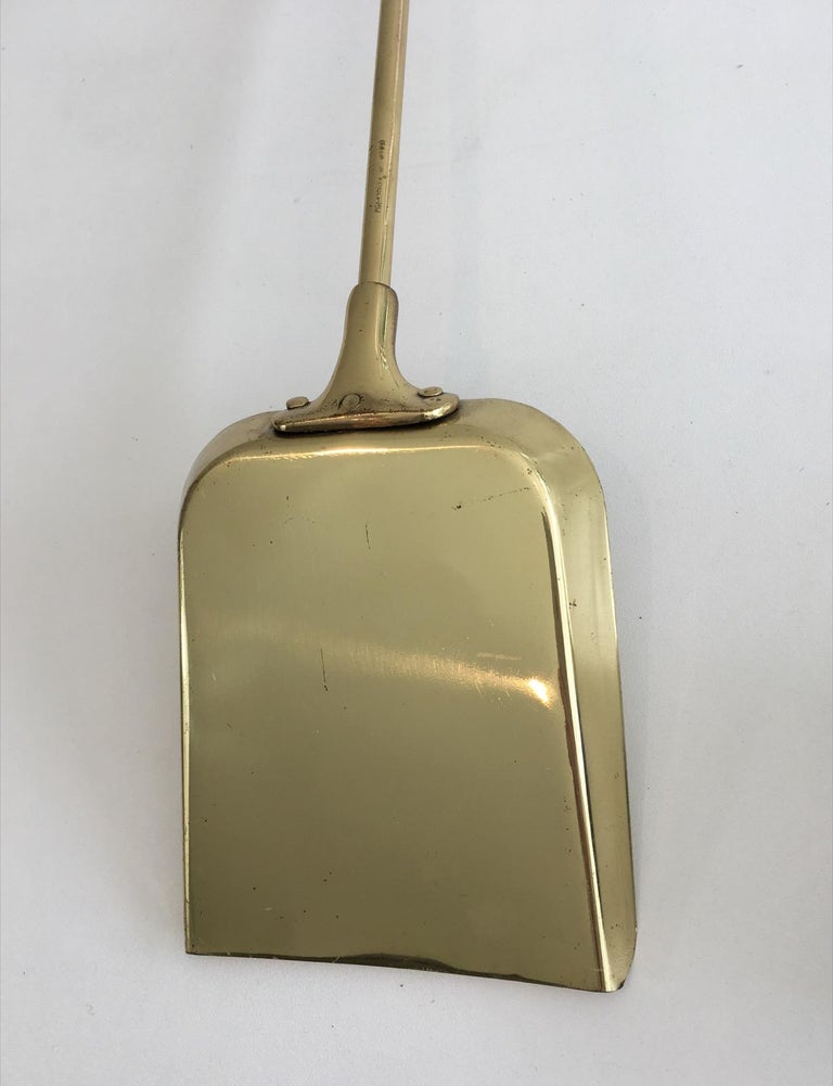 Brass Fire Place Tools on Stand, circa 1970 For Sale 7