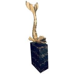 Henri Fernandez Sculpture Brass Fish