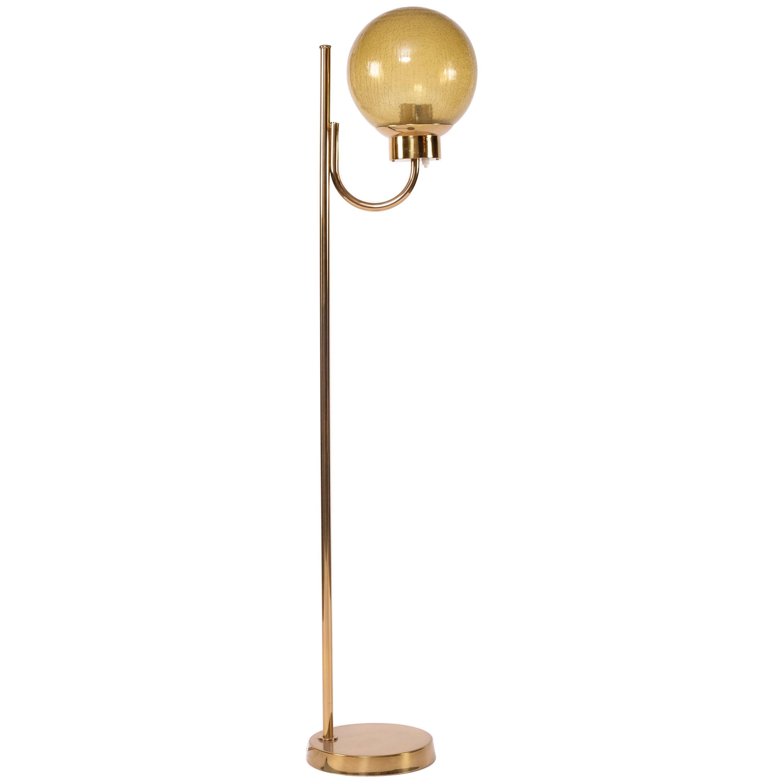 Brass Floor Lamp by Bergboms Model G-118, 1970s