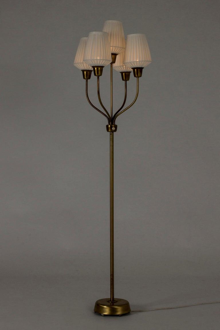 Brass Floor Lamp by Hans Bergström For Sale 1