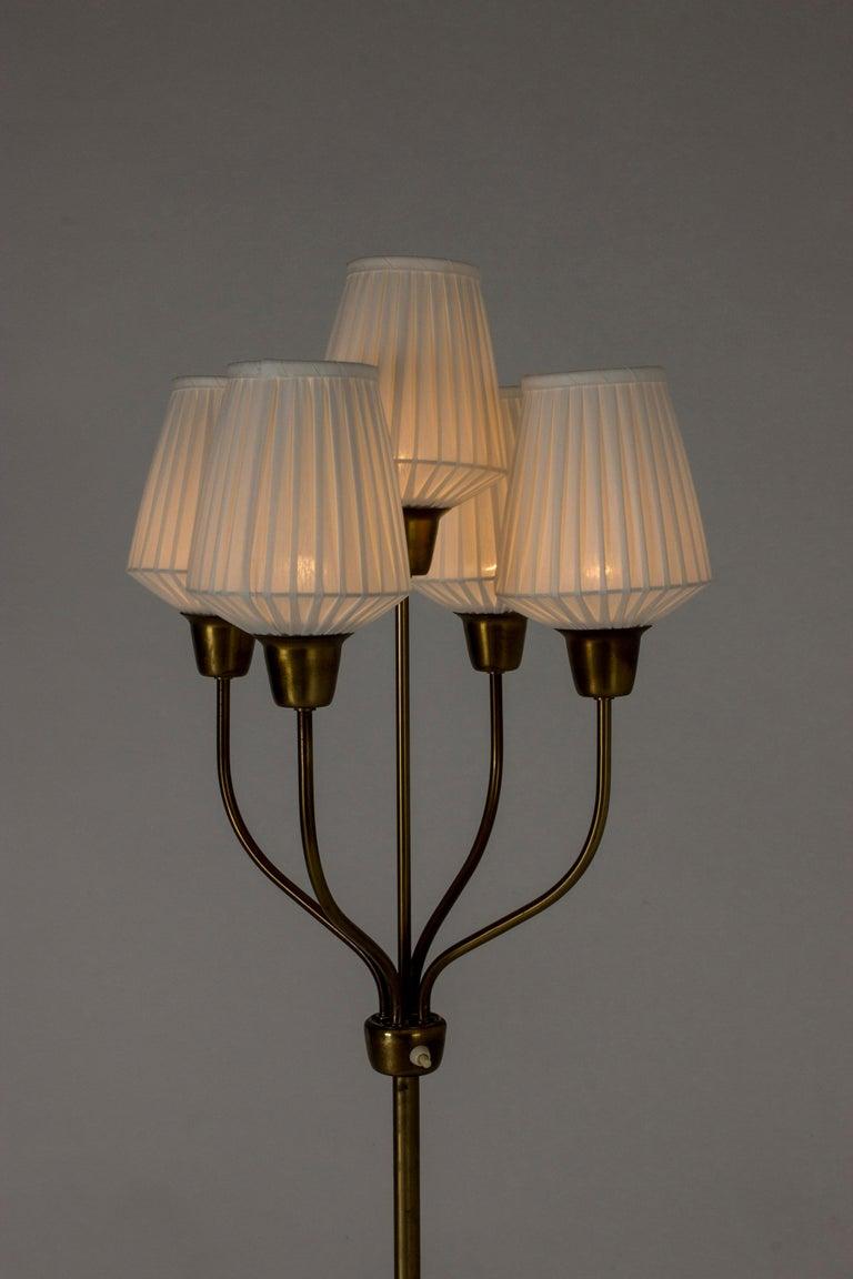 Brass Floor Lamp by Hans Bergström For Sale 2