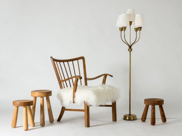 Brass Floor Lamp by Hans Bergström For Sale 3