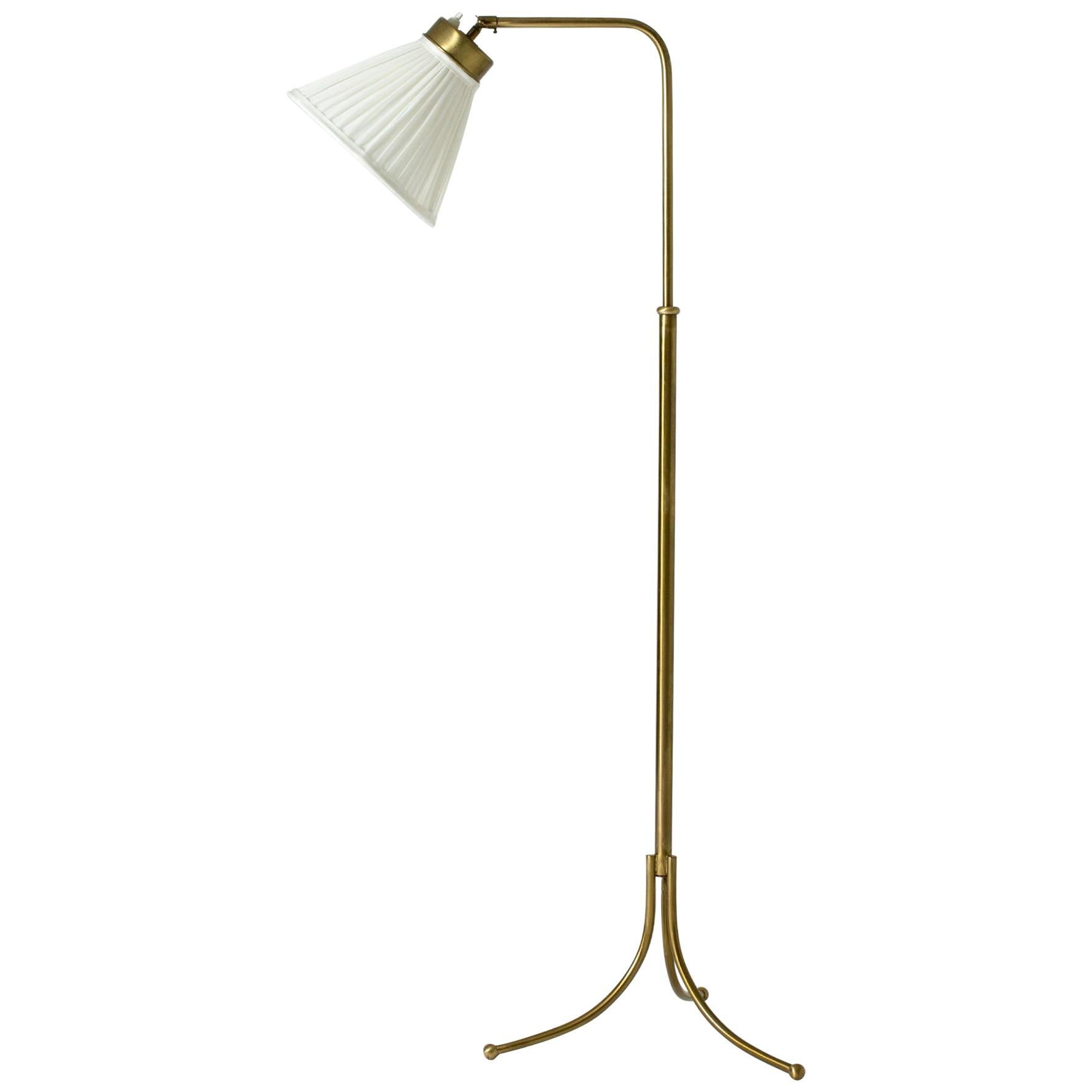 Brass Floor Lamp model #G1842 by Josef Frank for Svenskt Tenn, Sweden, 1950s