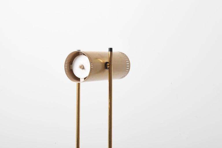 Brass Floor Lamp 'Trombone' by Jo Hammerborg for Fog & Mørup, Denmark, 1960s For Sale 5