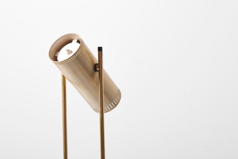 Brass Floor Lamp 'Trombone' by Jo Hammerborg for Fog & Mørup, Denmark, 1960s For Sale 6