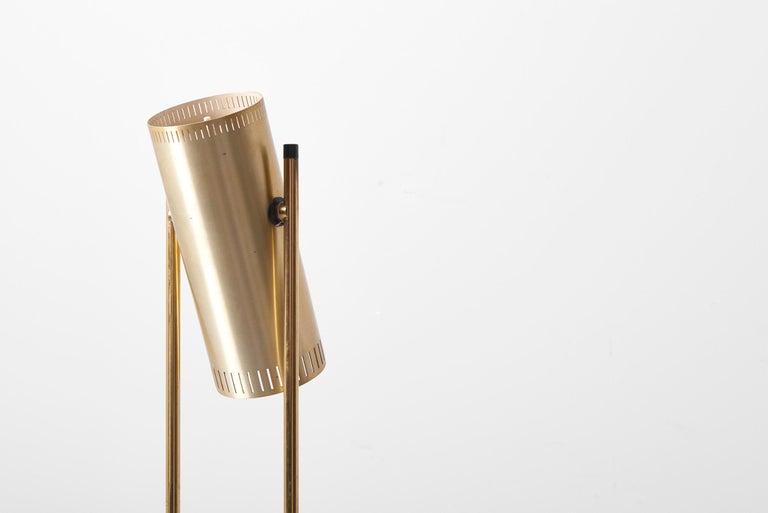 Brass Floor Lamp 'Trombone' by Jo Hammerborg for Fog & Mørup, Denmark, 1960s For Sale 7