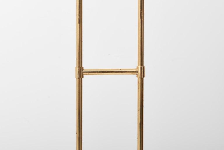 Brass Floor Lamp 'Trombone' by Jo Hammerborg for Fog & Mørup, Denmark, 1960s For Sale 8