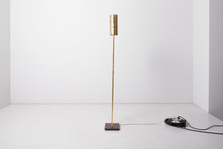 Brass Floor Lamp 'Trombone' by Jo Hammerborg for Fog & Mørup, Denmark, 1960s For Sale 1