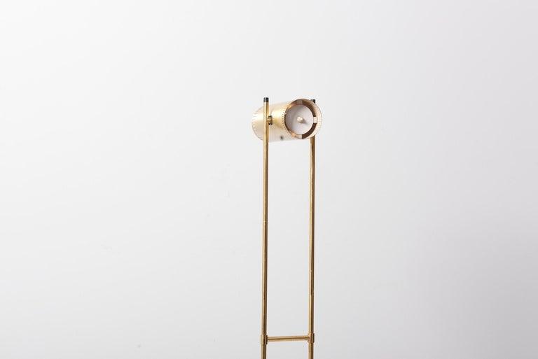 Brass Floor Lamp 'Trombone' by Jo Hammerborg for Fog & Mørup, Denmark, 1960s For Sale 3