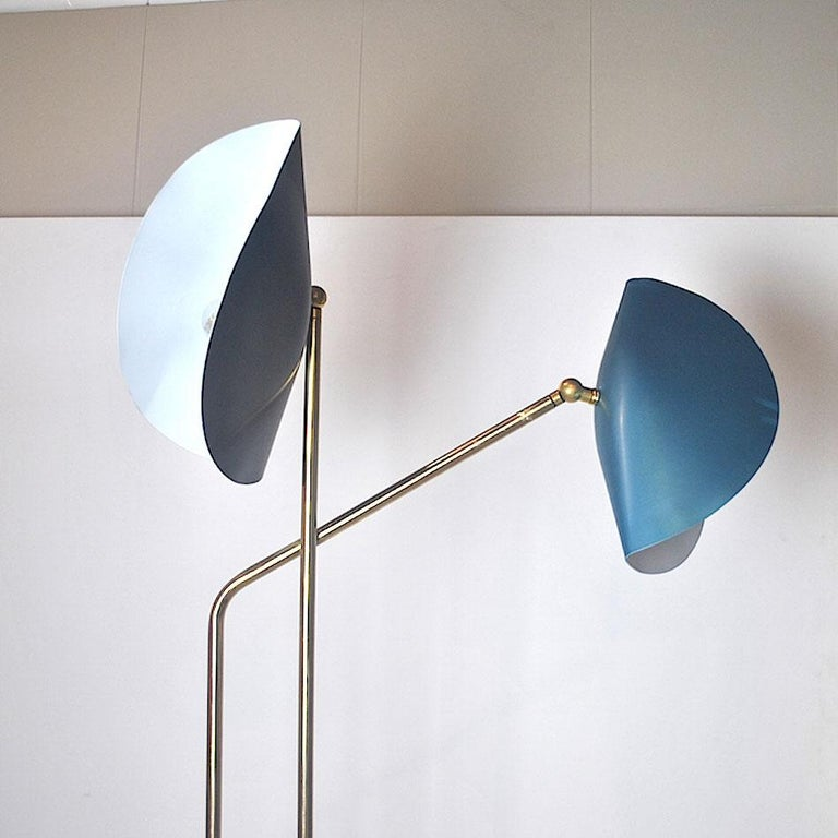 Brass Floor Lamp with Marble Base by Cellule Creative Studio  4