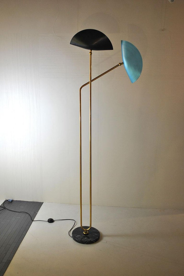 Brass Floor Lamp with Marble Base by Cellule Creative Studio  9