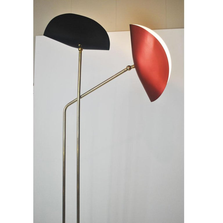 Brass Floor Lamp with Marble Base by Cellule Creative Studio  In New Condition In bari, IT