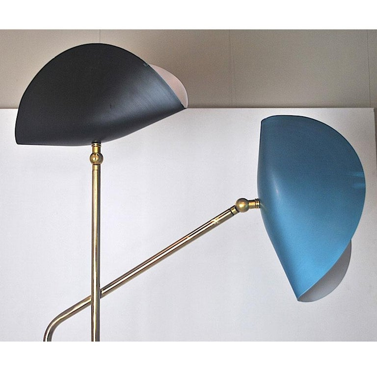 Brass Floor Lamp with Marble Base by Cellule Creative Studio  3
