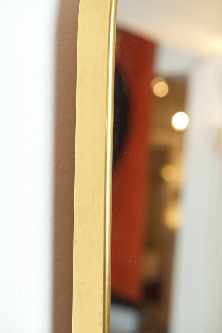 Italian Brass Framed Mirror For Sale