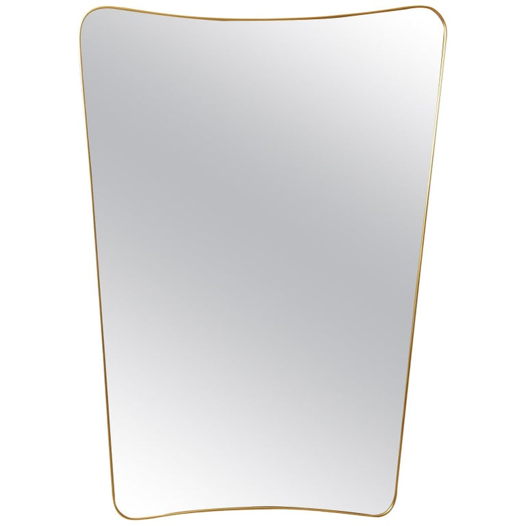 Brass Framed Mirror For Sale