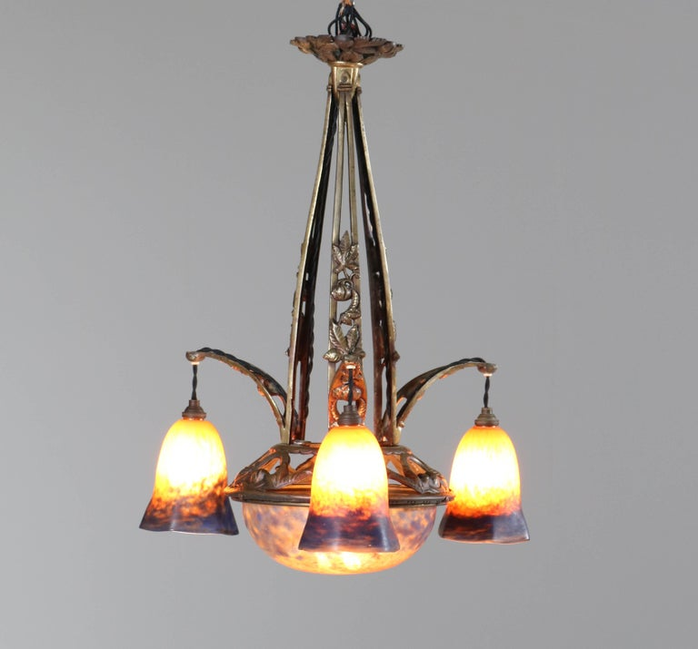 Stunning Art Deco chandelier.
