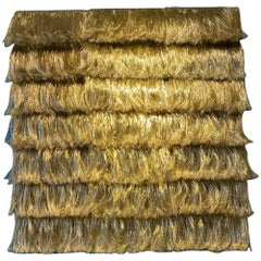 Brass Fringes Wall Piece by Annemette Beck Danish Contemporary