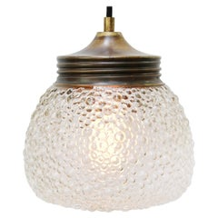 Brass Frosted Glass Vintage Pendant Lights