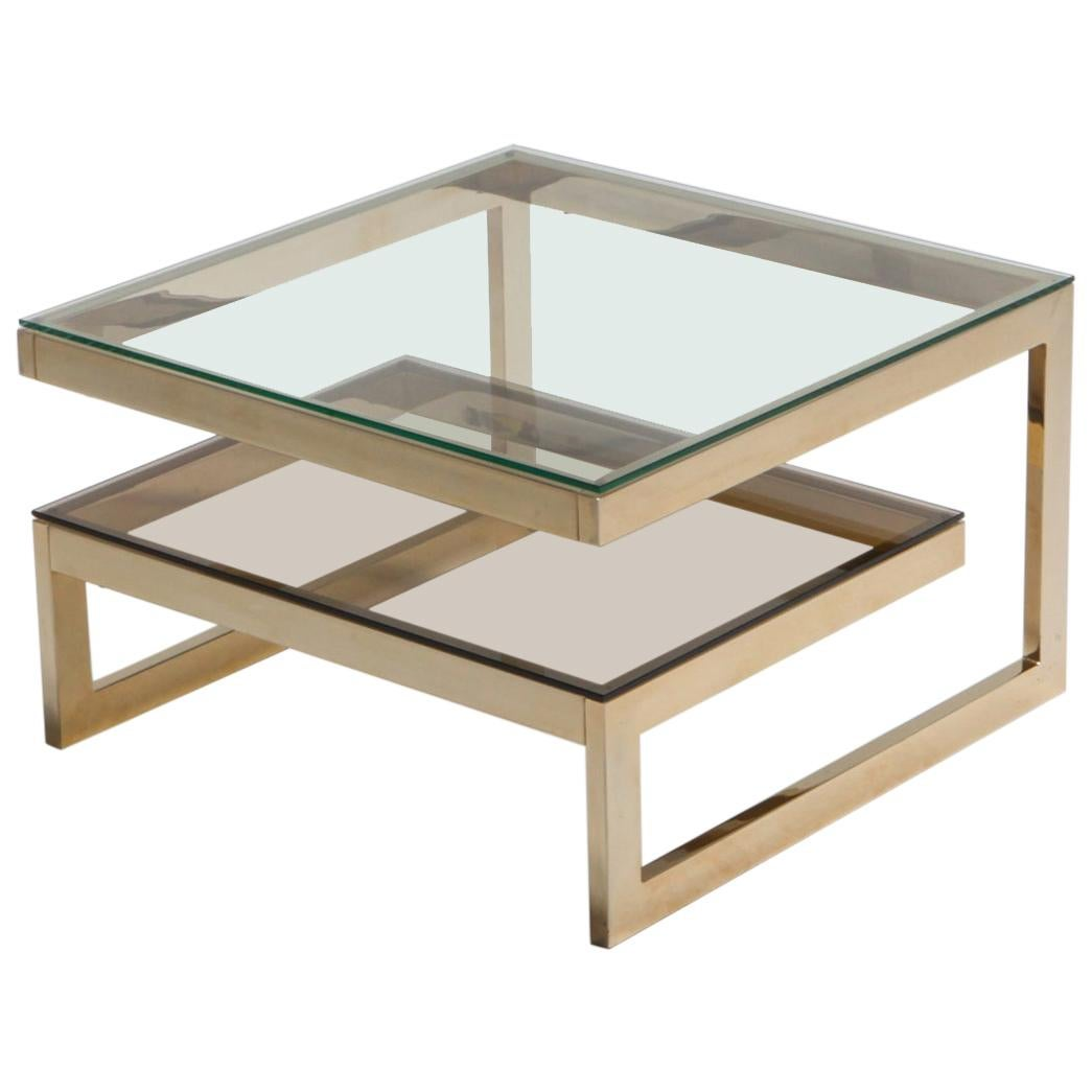 Brass G Side or Coffee Table