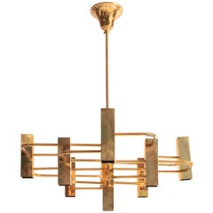 Brass Gaetano Sciolari Chandelier, Boulanger 70's