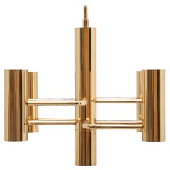 Brass Gaetano Sciolari Chandelier, Small