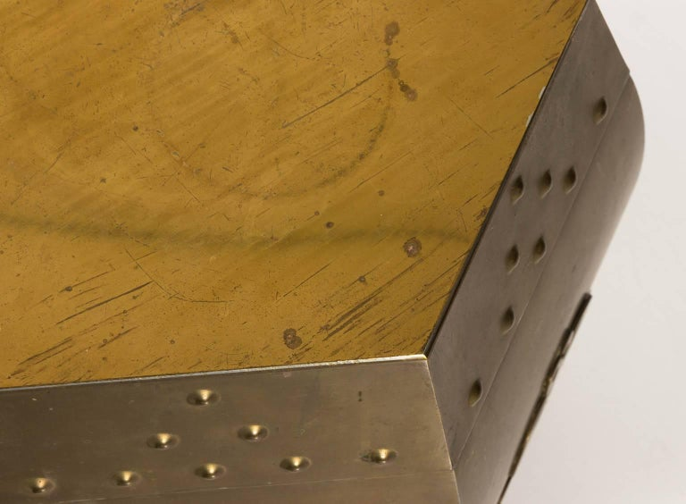 Brass Garden Seat In Good Condition For Sale In Stamford, CT