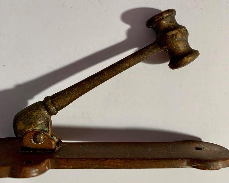Brass 'Gavel' Door Knocker For Sale 1