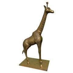 Brass Giraffe Figurine Sculpture
