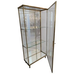 Brass and Glass Display Cabinet 1940s, France