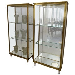 Brass and Glass Display Cabinet  1940s France