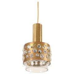 Brass Glass Pendant Lamp by Rupert Nikoll