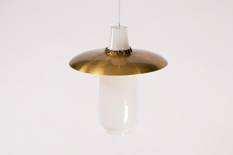 Blown glass and brass shade or reflector.  New wiring.