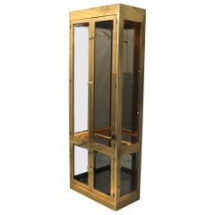 Brass & Glass Tall Mastercraft Cabinet