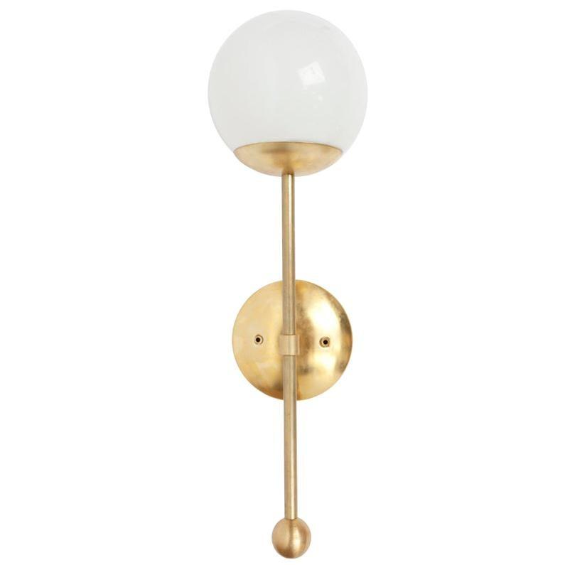 Brass Globe Sconce Light