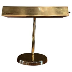 Brass Gooseneck Desk Lamp by Tensor