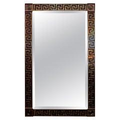 20th Century Brass Greek Key Beveled Mirror by Mastercraft