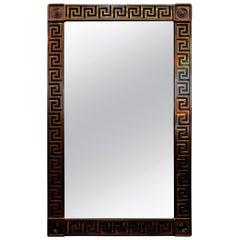 Brass Greek Key Beveled Mirror by Mastercraft
