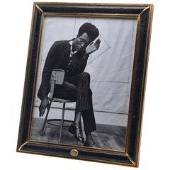 Gucci Messingrahmen mit Kunstleder-Detail, ca. 1960