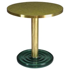 Brass Guéridon Side Table, Confinement Collection by JAS