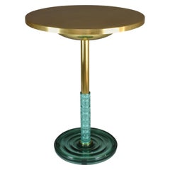 Brass Gueridon Side Table, Confinement Collection by JAS
